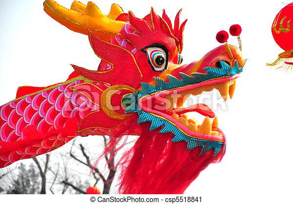 dragon head 6 chinese new year parade in jinan china