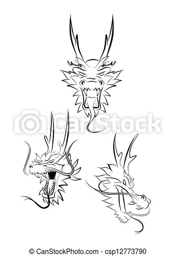 dragon head - csp12773790