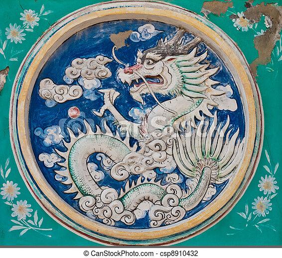 Dragon in a circle