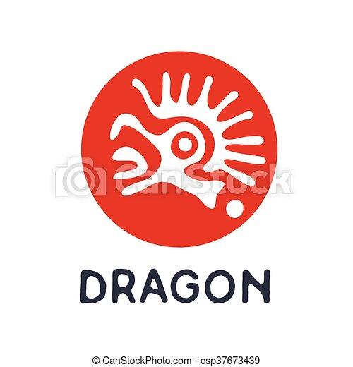 dragon logo vector illustration dragon or lizard logo vectors
