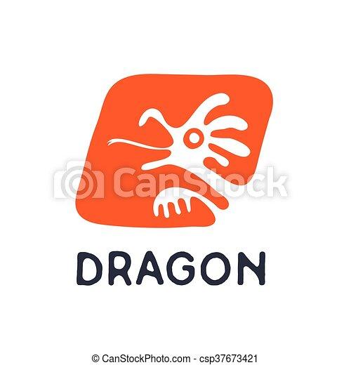 dragon logo vector illustration dragon or lizard logo vector icon