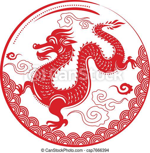 Dragon nouveau chinois ann e chinois vackground - Comment dessiner un dragon chinois ...