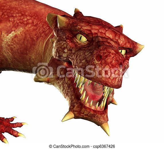 dragon portrait - csp6367426
