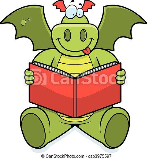 Dragon Reading - csp3975597