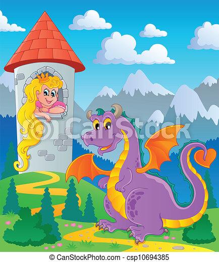 Dragon theme image 3 - csp10694385