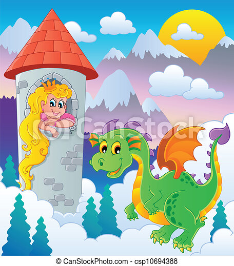 Dragon topic image 1 - csp10694388
