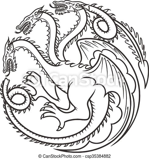 Dragon vector tattoo - csp35384882