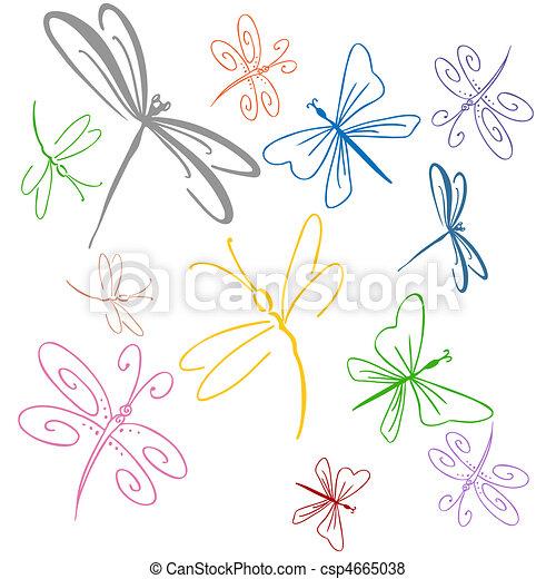 Dragonfly Set - csp4665038