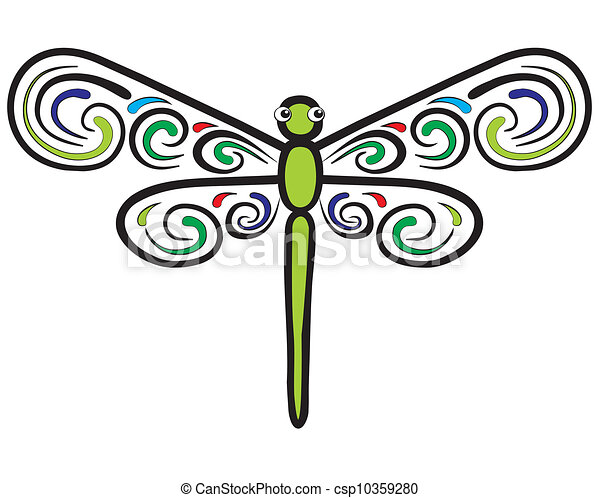 dragonfly which have beautiful wing represent a green dragonfly rh canstockphoto com free dragonfly clip art to print free clipart dragonfly silhouette