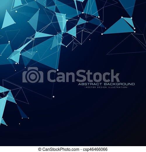 Draht, dreieck, formen, masche, hintergrund, technologie.