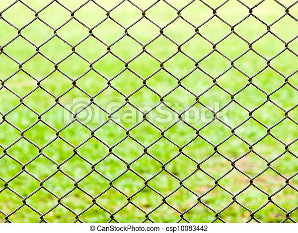 Draht, hintergrund, zaun, grün, eisen, gras Stockfoto - Fotografien ...