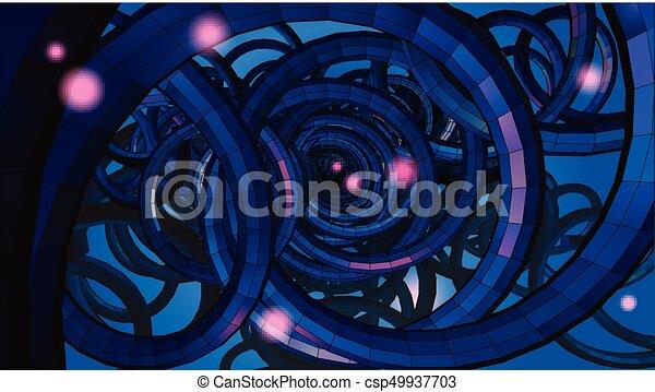 Draht, sci, abstrakt, spirale, hintergrund, begrifflich, fi ...
