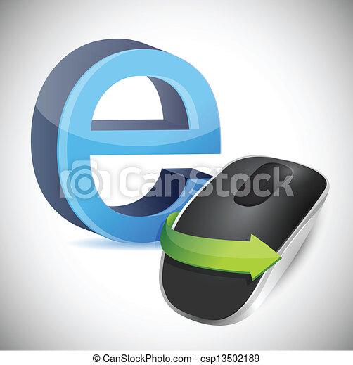 Drahtloser computer, internet, zeichen. Freigestellt, zeichen ...