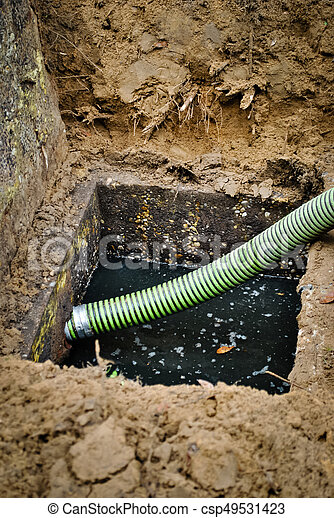 Draining the septic tank - csp49531423
