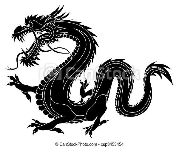 Abstraktni Vektor Ilustrace Cinane Drak