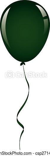 drak green balloon ribbon - csp27143284