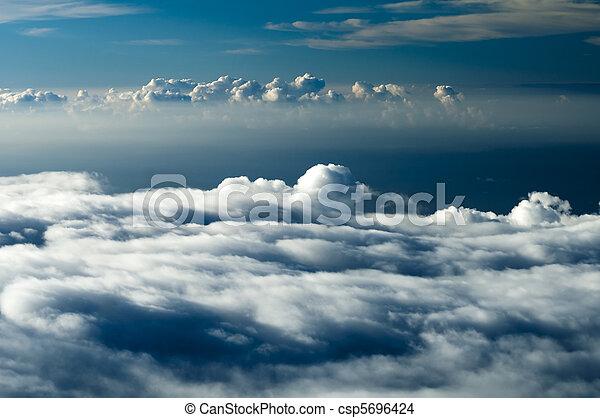 dramático, nuvens - csp5696424