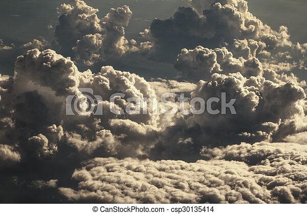 dramático, nuvens - csp30135414