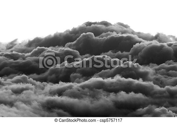 dramático, nuvens - csp5757117