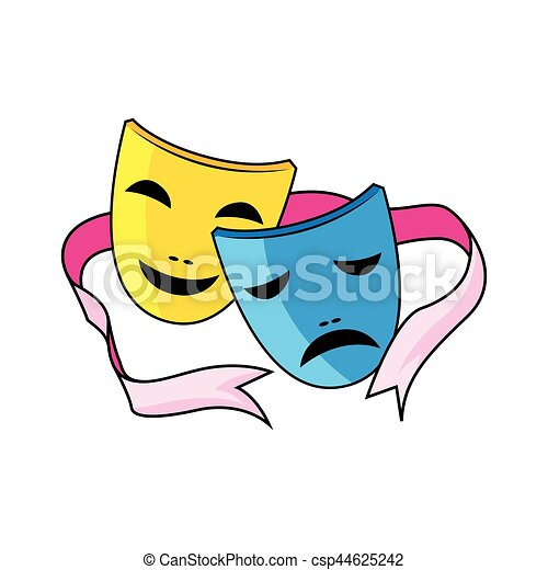 drama mask eps vector search clip art illustration drawings and rh canstockphoto com drama masks clipart black and white