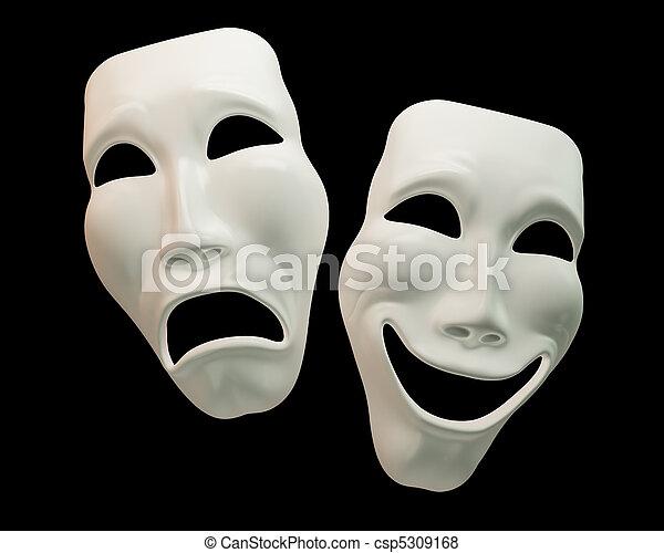 drama, symbole, comedy-theatre - csp5309168