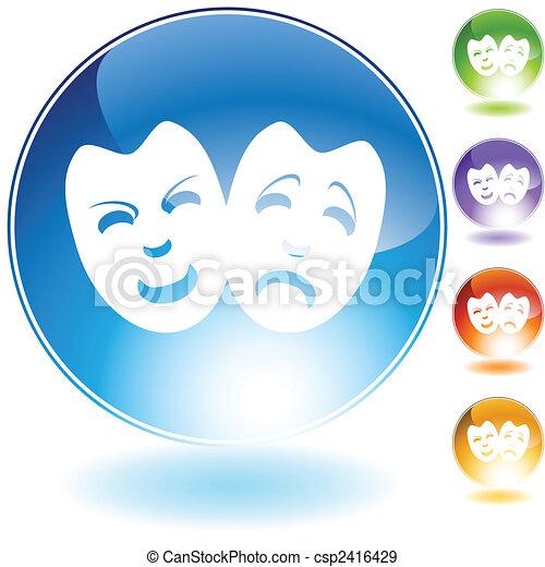 dramat, kryształ, maska - csp2416429