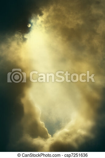 dramatic backdrop of the sky with clouds - csp7251636