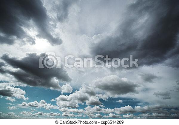 Dramatic clouds - csp6514209