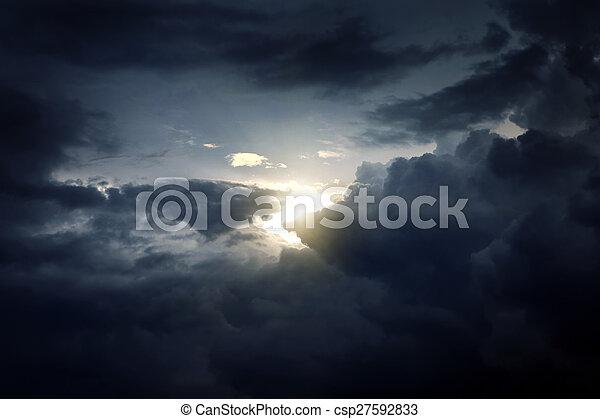 Dramatic Cloudscape - csp27592833