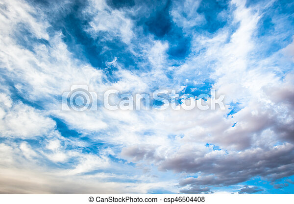 dramatic cloudy sky background - csp46504408