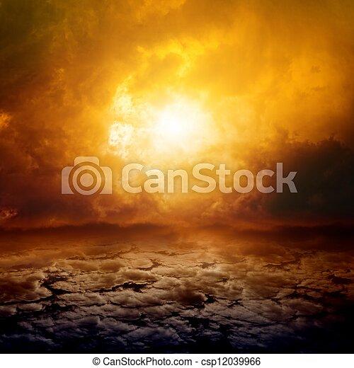 Dramatic nature background - csp12039966