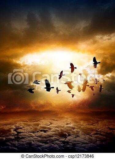 Dramatic nature background - csp12173846