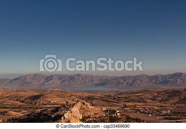 Dramatic Scenery of the Elazig City at Sunset - csp33469690