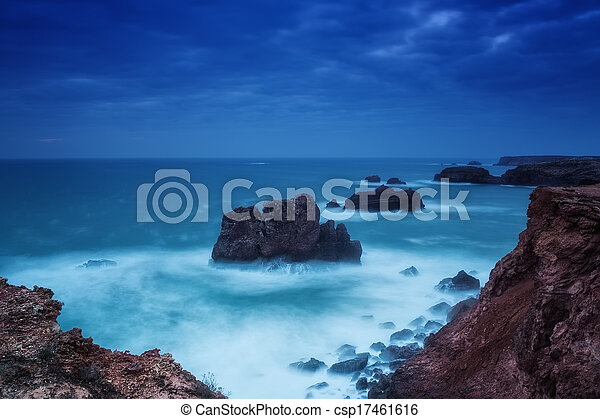 Dramatic seascape in southern Portugal. Carrapateira. - csp17461616