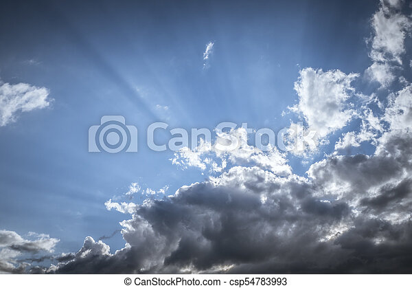dramatic sky background - csp54783993