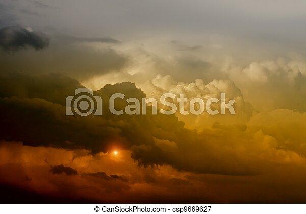 Dramatic sky - csp9669627