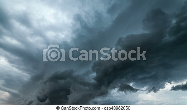 Dramatic storm sky background. - csp43982050
