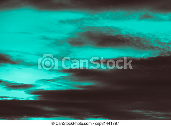 Dramatic storm sky background - csp31441797