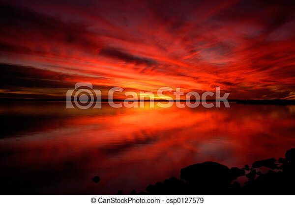 Dramatic Sunset - csp0127579