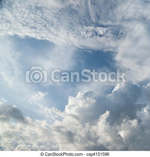 dramatique, nuages - csp4151596