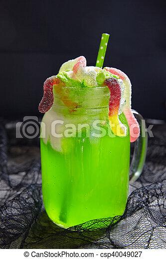Halloween Ijs.Drank Vlotter Halloween Ijs Groene Room