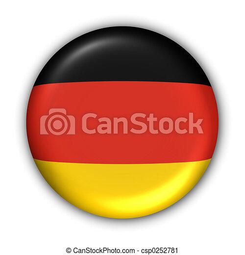 drapeau, allemagne - csp0252781