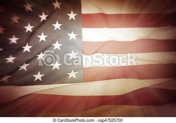 drapeau américain - csp47525700
