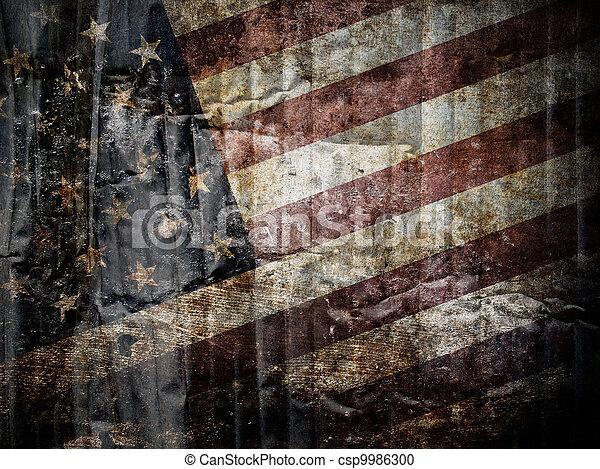 drapeau américain, fond - csp9986300