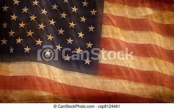 drapeau américain, fond - csp8124461