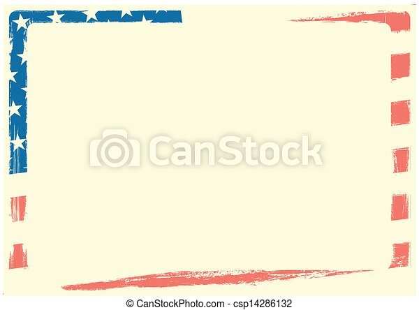 drapeau américain, fond - csp14286132