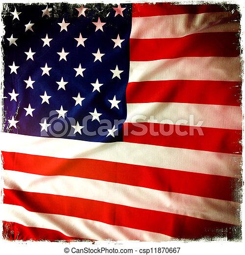 drapeau américain - csp11870667