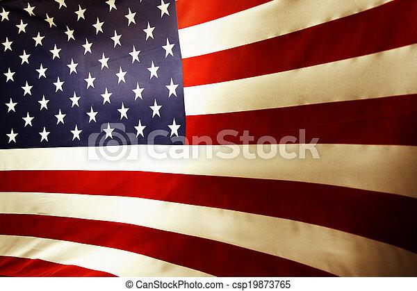drapeau américain - csp19873765