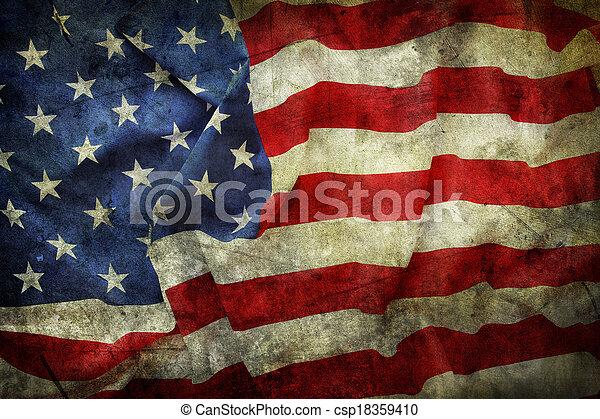 drapeau américain - csp18359410