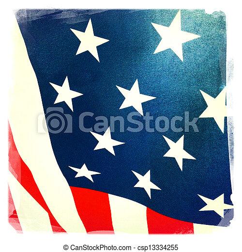 drapeau américain - csp13334255